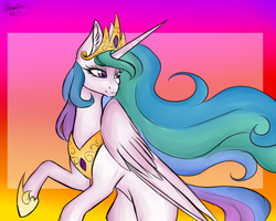 Princess Celestia  Collab  by ONYX-GAY