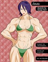 Manga Muscle Girl Setsuka by elee0228