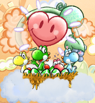 Yoshis! [Screenshot Redraw] by fuwante-chan