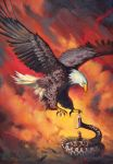 Eagle and snake by AntonPaintings