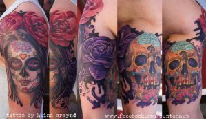 day of the dead arm project by graynd