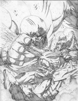 Wolverine vs Juggernaut by jonathan-rector