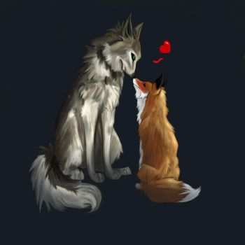 Wolf And Fox by eme91178