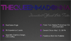 New Deviant ID by TheQueenMadonna