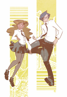 All the Cool People Float on Yellow Bars by Nikki0417