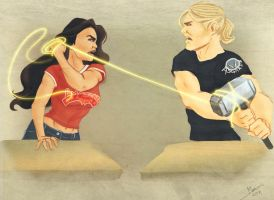 College Days - Diana and Thor by jadenwithwings