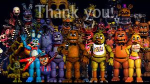FNAF Thank You Image by DigiRadiance