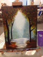 My First Traditional Painting - Acrylic by endave