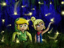 Fireflies by kukotte