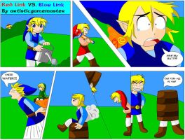 Red Link VS Blue Link by artisticgamemaster