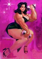 Fifties Musclewoman by Jebriodo