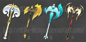 Fantasy Axes (set 2) by Rittik-Designs