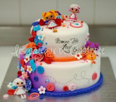 lalaloopsy cake by buttercreamfantasies