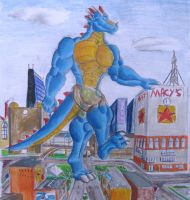nuke dragon at large by DracoRex1890