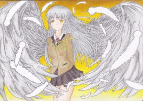 Kanade - Angel Beats by shadowpuncture