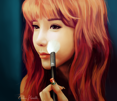 Portrait of Park Bom (2NE1) by PeterPan-Syndrome