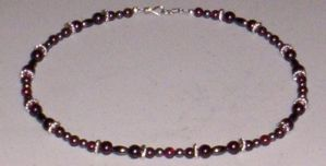 garnet and hematite choker by DonaIvanova