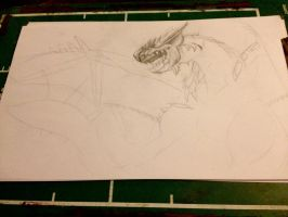 WIP - Rathalos  by IfreakenLoveDrawing