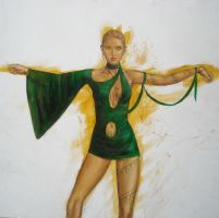 Girl in Green wip by dashinvaine