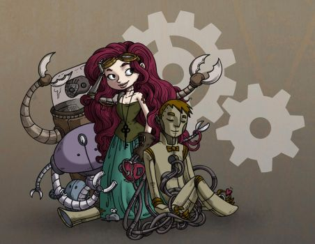 Botgirl Colored by secondlina