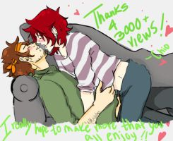 3000views Thank you everyone by CHIOtheFALLEN