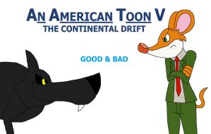 An American Toon V Poster - Good and Bad by HunterxColleen