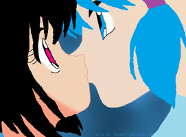 melodys and kamlys first kiss ever by Xxmew-annexX