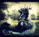 --SOLD-- Large Poseable Imperial Desert Stag by Wood-Splitter-Lee