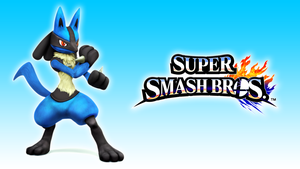 Lucario SSB Wallpaper by Glench