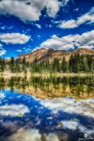 Vertical of Butterfly Lake HDR by mjohanson