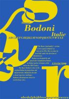 Bodoni Typography Poster by friedmoonthing