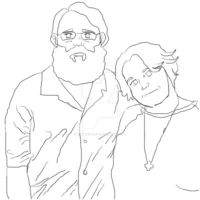 Art and I in Kentucky Outline by TheNerdChef