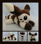 Floppy Furret Plush by Lighiting-Dragon