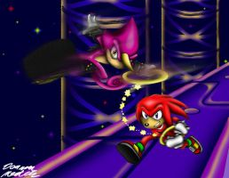 Secret Santa: Knuckles and Espio by Xaolin26