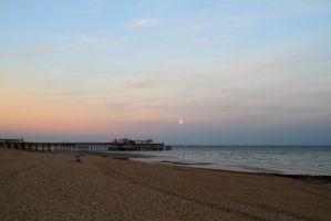 Moon pier by Tiger--photography