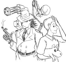 Inspector Gadget and Tintin by mayuzane