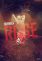 Derrick Rose - dunk wallpaper by RafaelVicenteDesigns