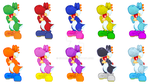 So many Yoshis! So many colors! So many cookies! by Chalecus