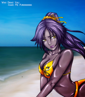 Yoruichi on the beach by MRRWN