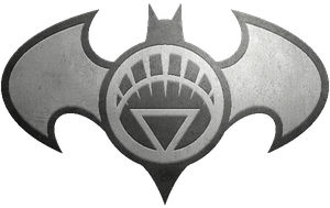 Batman White Lantern Metalic Logo by KalEl7