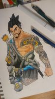 Hanzo Overwatch by DrawnPhilosophy