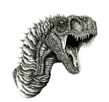 Horned T-Rex by WretchedSpawn2012