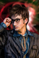 The Tenth Doctor by la-luna-roja