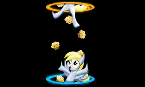 Derping with portals wallpaper by GrimmCheater
