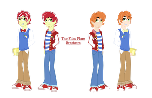 Flim Flam Brothers Equestria Girls style by Strawberry-Spritz