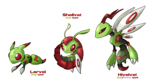 Fakemon: Early Bugs by glitchgoat