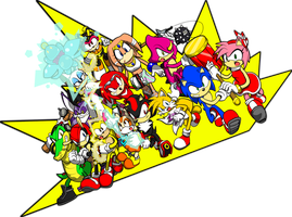 Sonic - Teams against Eggman by chukadrawer