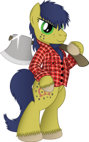 Gypsy Vanner the Lumberjack (Vector) by drawponies