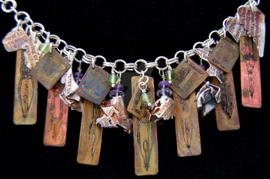The Writer - Charm Bracelet by xodropdeadox