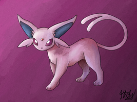 Espeon by SharkyNoBarky